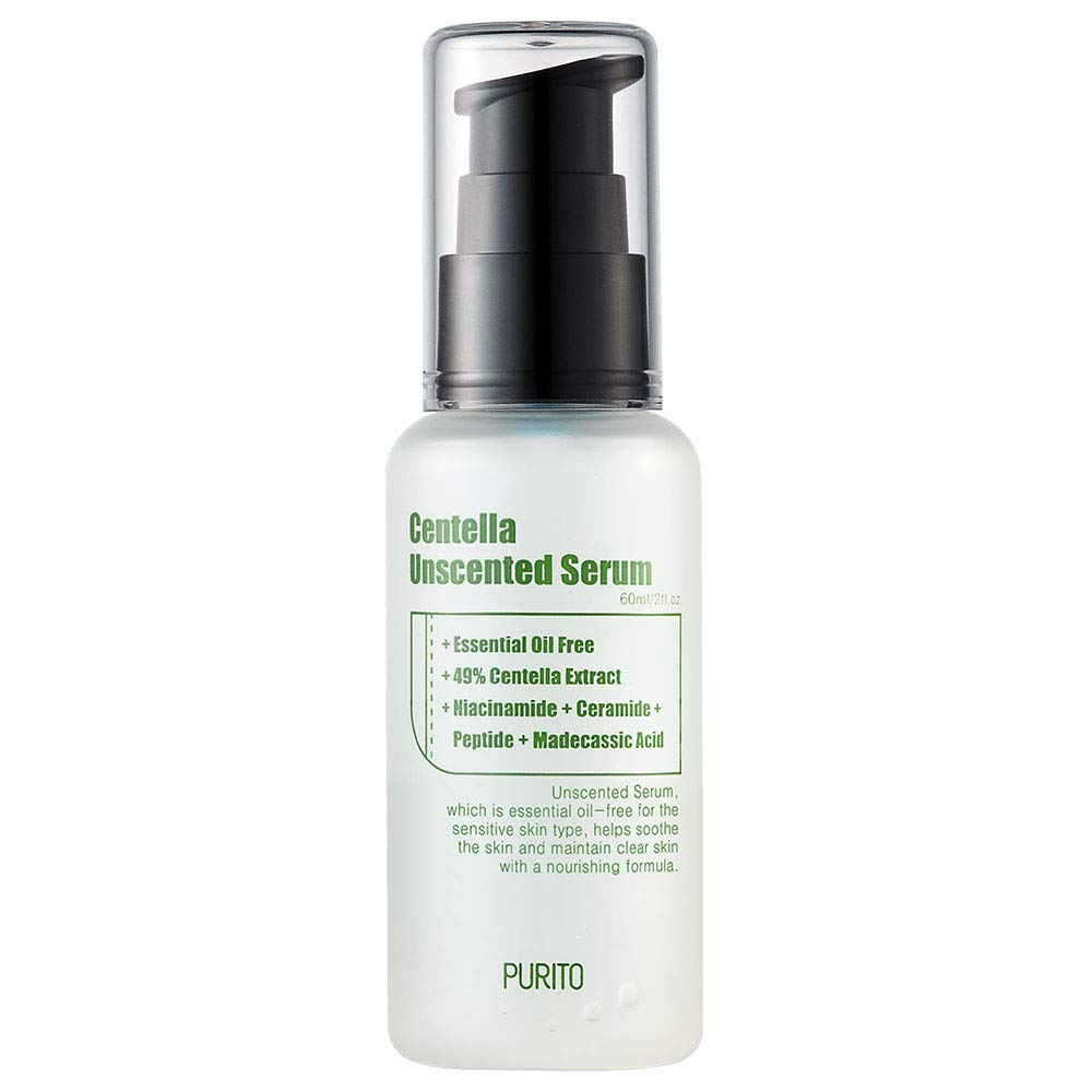 A bottle of PURITO Centella Unscented Serum (From: amazon.com).