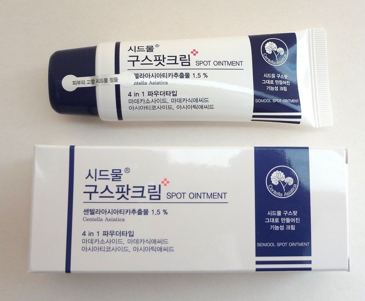 A container of Sidmool Good Spot Cream (From: amazon.com).