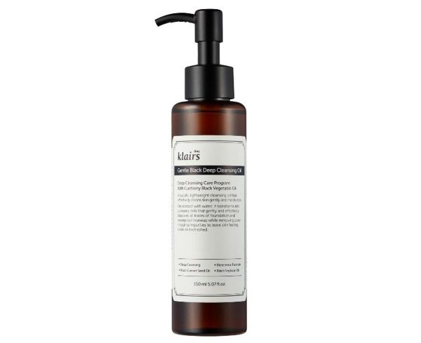 A closer look at the Dear, Klairs Gentle Black Deep Cleansing Oil. (From: klairscosmetics.com)