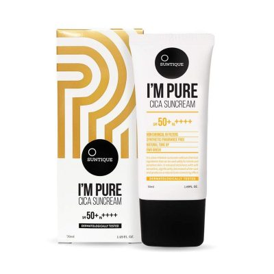 A closer look at the Suntique I'm Pure Cica Suncream. (From: amazon.com)